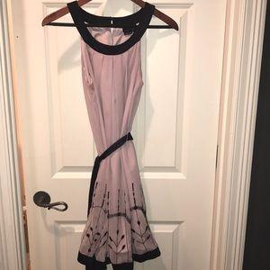 Lavender halter neck beaded dress